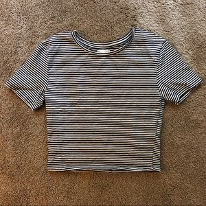 Zara Striped Cropped Tee